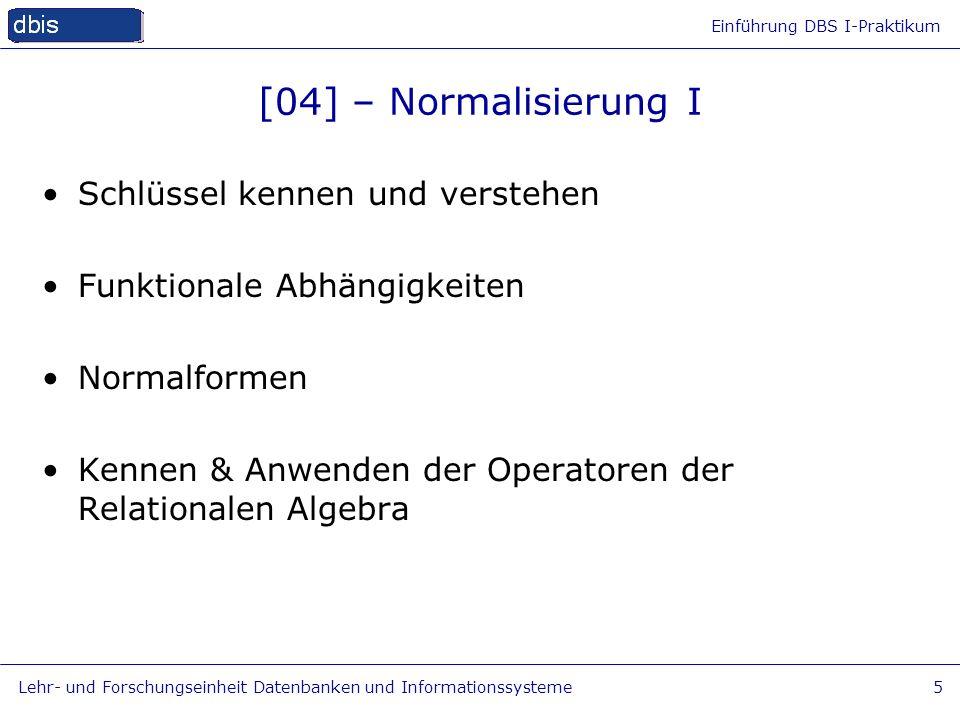[04] – Normalisierung I Schlüssel kennen und verstehen